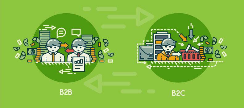 تفاوت های بازاریابی و فروش در روش های B2B و B2C